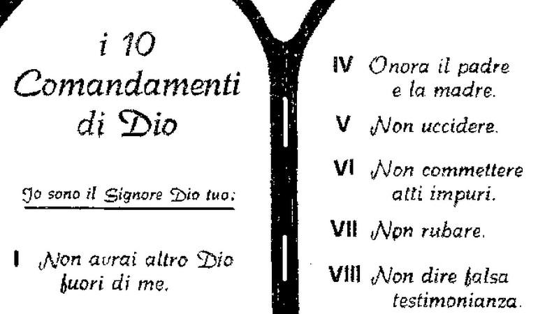 I Dieci Comandamenti di un Vero Italiano!